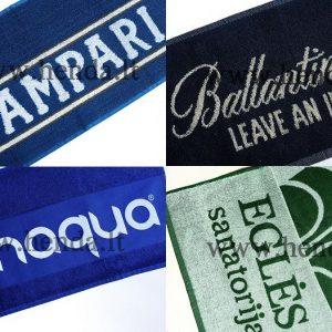 Rankšluosčių su logotipu audimas